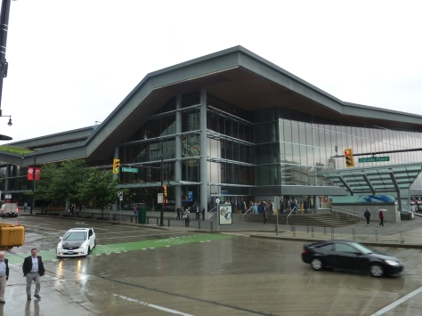 The Vancouver Convention Centre on a typical rainy day