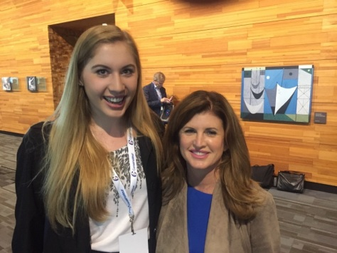 Interim leader Rona Amborse with Elizabeth Tuomi (no, Rona Ambrose is not that short... Elizabeth is really tall!)